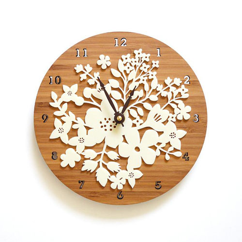 Lasercut clock