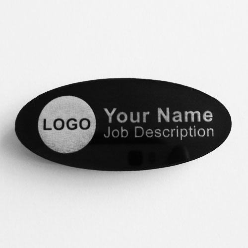 name badges acrylic oval