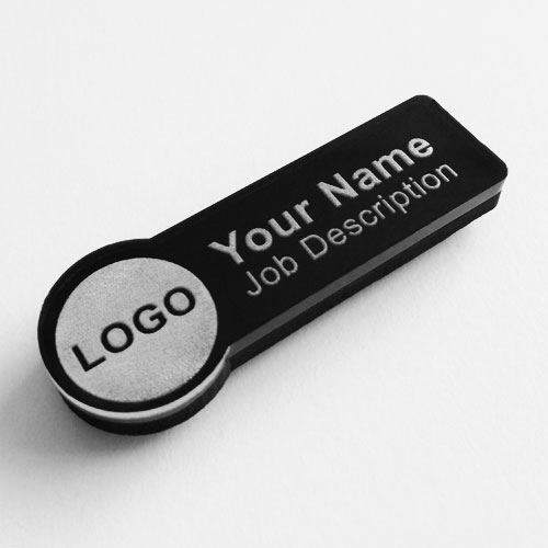 name badges acrylic rectangle
