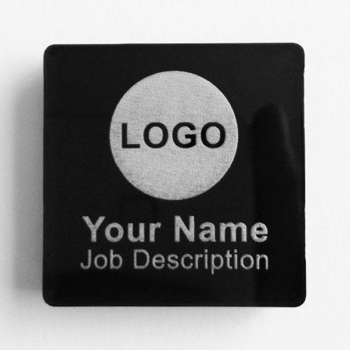 name badges acrylic square