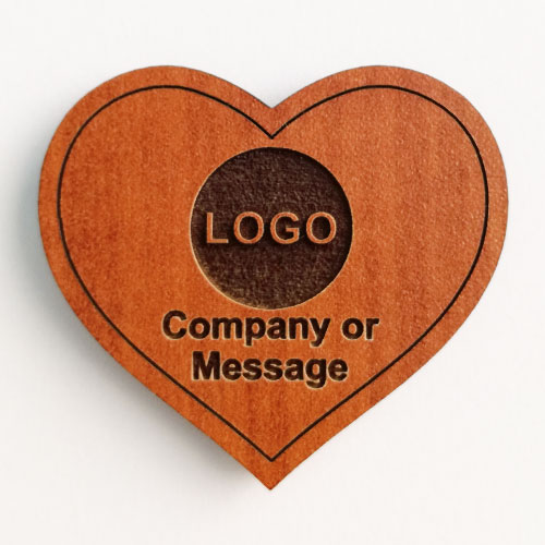 fridge magnets wooden heart