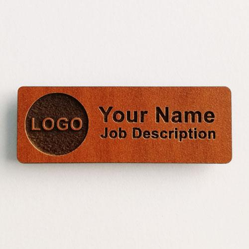 Name badges wood